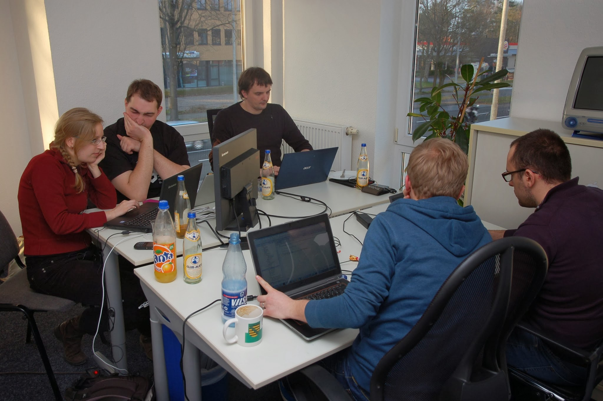 Oldenburg 2014 - group working on Hackathon_Gamification